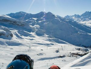 World-class forest skiing at Serre Chevalier, French Alpes